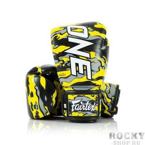 Боксерские перчатки Fairtex ONE FC X Mr.Sabotage, 10 OZ Fairtex