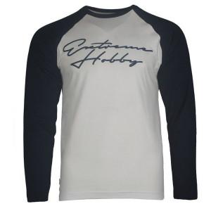 Лонгслив rapid signature (бело-синий) Extreme Hobby