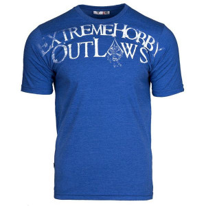 Футболка outlaws (синий) Extreme Hobby