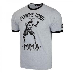Футболка мужская MMA grey melange Extreme Hobby