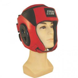 Шлем для бокса с закрытым верхом Fight Expert Red Flamma